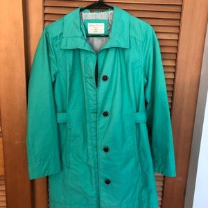 Eddie Bauer trench coat.